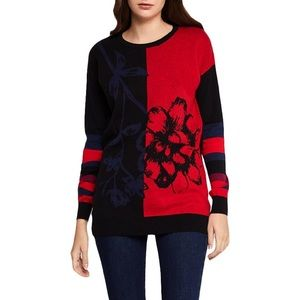 BCBGeneration Floral Jacquard Sweater